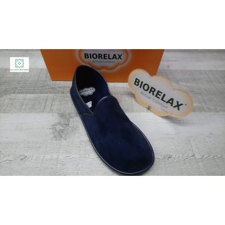 Biorelax home tacón pechado azul ou marrón