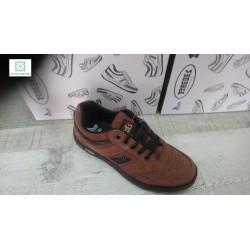 Zapatillas deportes paredes piel serraje marrón