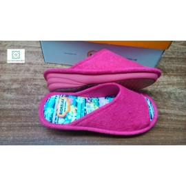 Biorelax wedge fuxia heel and open toe